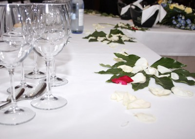 Decoración de la mesa nupcial