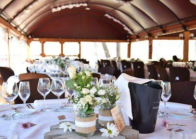 Banquete en interior