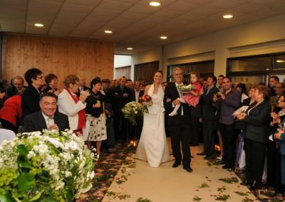 Ceremonia nupcial en el Mesón del Castillo